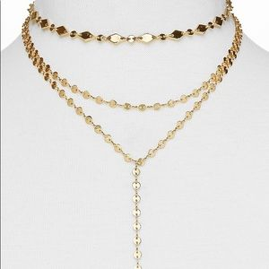 Bauble Bar Aimee Y layered necklace